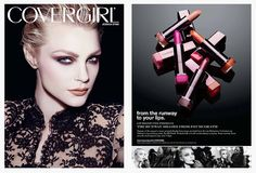 Jessica Stam for Covergirl by Pat McGrath - I want every shade!