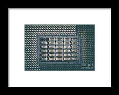Cpu Socket On Computer Motherboard Framed Print