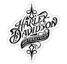 "Harley Davidson Logo | Beautiful Harley Davidson Logo - All Black Logo"" Stickers by daeryk ..."