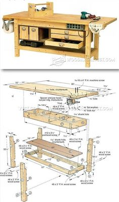 Rock-Solid Workbench Plans - Workshop Solutions Plans, Tips and Tricks | WoodArchivist.com