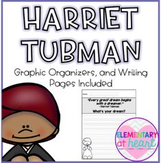 February is Black History Month! Harriet Tubman was a courageous woman! This product will get your kiddos writing and making connections to Rosa Parks! This will make a great addition to your Rosa Parks Unit!! Included: - Harriet Tubman KWL Chart - Harriet Tubman Venn Diagram ( Harriet and Me!) - Harriet Tubman Descriptions (graphic organizer) - Harriet Tubman Facts (graphic organizer) - All About Harriet Tubman ( full writing page) - Why Was Harriet Tubman Parks a Hero? ( full writing page)…