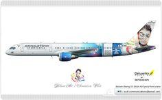 DeluxeAir / Boeing 757 230 / JA-KEI / Special Paint Scheme
