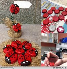 diy, diy projects, diy craft, handmade, diy bottle cap ladybug