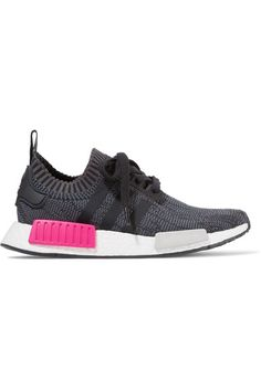 more photos 177e9 4d872 ADIDAS ORIGINALS NmdR1 Rubber-Paneled Primeknit Sneakers. adidasoriginals  shoes sneakers Colorful