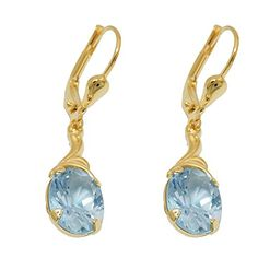 Aquamarin gold leverbackprice per 1 pair Stein Gold, Luxury Jewelry, Handmade Jewelry, Earrings, Silver, German, Amazon, Medium, Products