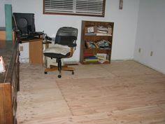 plywood floor