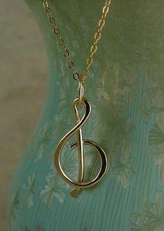 treble clef charm necklace
