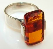 Big! Fabulous Polish Amber Sterling Silver Ring s. 9 - 8.90g | $91.85 best price at Silver Rush Style!