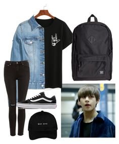 """""""KPOP OUTFITS IDEA 2"""" by jojogogo2003 on Polyvore featuring Vans and Herschel Supply Co."""