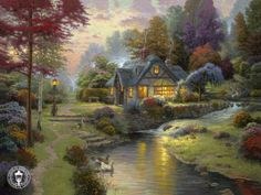 Thomas Kinkade. If I could make any place real, any of his paintings would be where I would live!