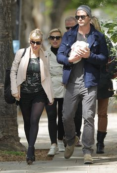 Chris Hemsworth Walking With His Baby In His Arms: An Appreciation Post