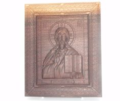 Religious gift Our Lord Jesus religious icon Wood carving, black walnut wood , home decor Religious Icons, Religious Gifts, Teak Oil, All Icon, Walnut Wood, Wood Carving, First Love, Art Pieces, Lord