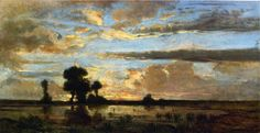 Edge of the Forest, Sun Setting - Theodore Rousseau