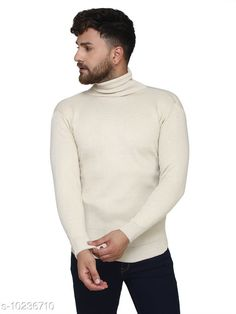 Checkout this latest Sweaters Product Name: *Kvetoo Off-White High Neck Sweater Single* Fabric: Acrylic Sleeve Length: Long Sleeves Pattern: Solid Multipack: 1 Sizes: S, M (Chest Size: 27 in, Length Size: 38 in)  L (Chest Size: 27 in, Length Size: 40 in)  XL Country of Origin: India Easy Returns Available In Case Of Any Issue   Catalog Rating: ★4.2 (757)  Catalog Name: Urbane Graceful Men Sweaters CatalogID_1854304 C70-SC1208 Code: 084-10236710-069