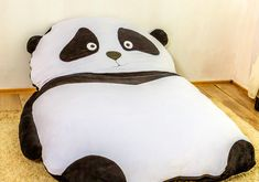 Beanbags – Bean bag for kids, teens, floor pillow Panda – a unique product by Victoria_Vysotskaya on DaWanda