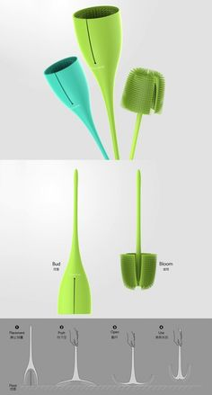 The #Bloom #toilet #brush stands out as an example of a simple design with a…