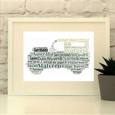 Land Rover Personalised Print Landrover Custom by PepperDoodles
