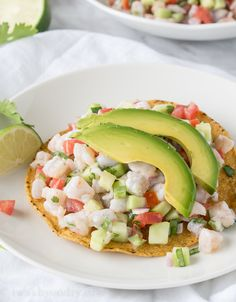 Shrimp Ceviche Replace tostada with jimica