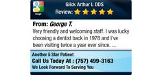 Very friendly and welcoming staff.  I was lucky choosing a dentist back in 1978 and I've...