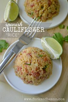 "The sneaky base of this Spanish ""Rice"": Cauliflower! But with all of the spices that make it the perfect side dish."