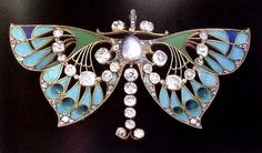 BUTTERFLY - Pendant/Brooch - Henri & Paul Vever, French c1900