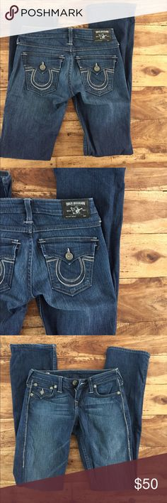 "True Religion Denim size 26 True Religion ""Becky"" Denim in great condition! Inseam is 32"". True Religion Jeans"