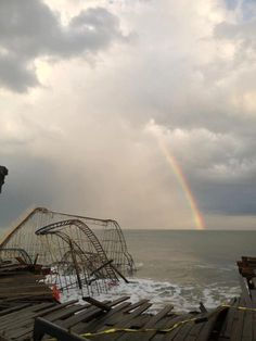 Image of the coaster in the water from Sandy in Seaside NJ (Dec. 18th 2012)