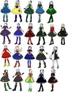 Superhero x Lolita designs by ~sirenlovesyou