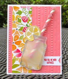 Krystal's Cards: Stampin' Up! Jar of Love Use Jar Stamp and Mini Straws Love Cards, Diy Cards, Mason Jar Cards, Mason Jars, Ideias Diy, Stamping Up Cards, Shaker Cards, Creative Cards, Greeting Cards Handmade