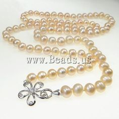 #Natural #Freshwater #Pearl #Necklace http://www.beads.us/product/Fashion-Necklace-8-9mm_p16309.html?Utm_rid=219754