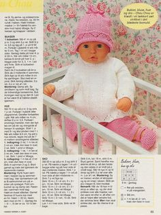 Albumarkiv Knitting Dolls Clothes, Baby Doll Clothes, Baby Dolls, Doll Patterns, Clothing Patterns, Knitting Patterns, Crochet Dolls, Crochet Hats, Ann Louise