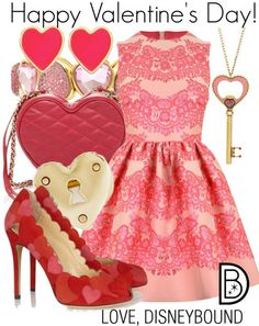 Disney Bound My Funny Valentine, Disney Valentines, Happy Valentines Day, Disney Inspired Fashion, Disney Fashion, Disney Bound Outfits, Movie Outfits, Party Outfits, Red And White Outfits