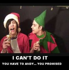 """Chance and andy """"Andy on his death bed drinking soda xD"""" lol I CANT DO IT MAN ANDY YOU PROMISED!"""