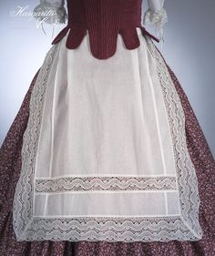 Margarita Vercher delantal fallera European Dress, My Muse, Skirt Pants, Georgian, Margarita, New Work, Apron, Sewing, Lace