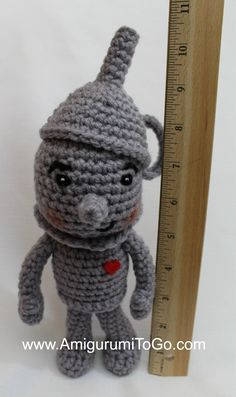 Meet the adorable Tin Man!   This pattern has been in the works for a while. Today I felt so great that I had finally finished him then ...