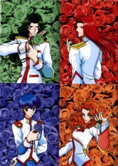 Saionji, Touga, Miki, Juri Anime Nerd, Manga Anime, Revolutionary Girl Utena, Orange Roses, Detroit Become Human, Anime Artwork, Anime Shows, Magical Girl, Shoujo