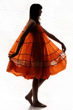 Designer Christopher Raeburn created this dress from a recycled parachute. Sustainable Clothing, Sustainable Fashion, Sustainable Design, Parachute Dress, Winter Must Haves, Christopher Raeburn, Recycled Fashion, How To Make Clothes, British Style