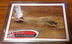 2012 Topps #93 Skip Schumaker Squirrel SP Photo Variation Cardinals
