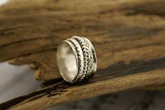 Meditation Ring Spinner Ring Fidget Ring by BelViaggioDesigns, $88.00