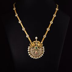 Vishala Peacock Diamond Necklace