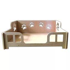 cama caminha sofá casa para pet, cachorro, gato, em mdf crú