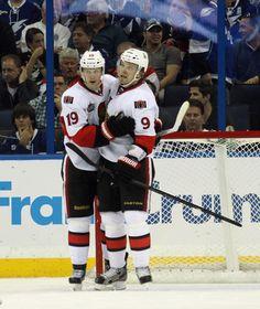 Jason Spezza and Milan Michalek, Ottawa Senators Stars Hockey, Hockey Teams, Boston Bruins, Ottawa, Calgary, Nhl, Milan, Coaching, Army