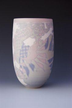 Soluble salts on porcelain bowl by Arne Aase