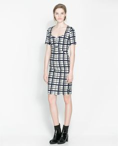 ZARA - WOMAN - CHECKED SHIFT DRESS