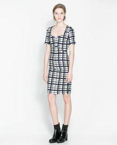 ZARA - WOMAN - CHECKED SHIFT DRESS