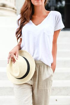 summer chic - neutral + casual via @jessiafshin