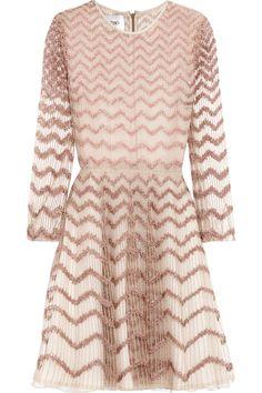 VALENTINO Embellished Tulle Mini Dress. #valentino #cloth #dress