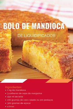 Bolo de mandioca Easy Donut Recipe, Donut Recipes, Cake Recipes, Dessert Recipes, Cooking Recipes, Fall Desserts, Delicious Desserts, Yummy Food, Other Recipes