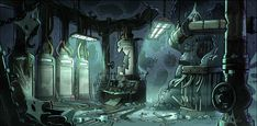 """Gravi-Team Falls — BG paint for """"Into the Bunker"""" Top image drawn by..."""