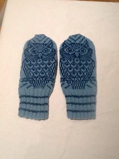 Owl mittens by Lappesola on Etsy https://www.etsy.com/listing/254507418/owl-mittens